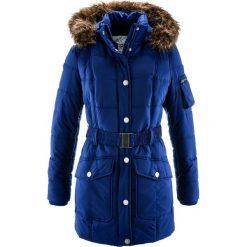 Kurtka parka pikowana z wstawką ze sztucznego futerka bonprix kobaltowy. Niebieskie kurtki damskie pikowane marki bonprix. Za 189,99 zł.