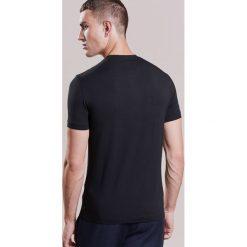 Armani Collezioni BASIC Tshirt basic schwarz. Czarne koszulki polo marki Armani Collezioni, l, z elastanu. W wyprzedaży za 230,45 zł.