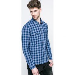Tom Tailor Denim - Koszula. Szare koszule męskie na spinki TOM TAILOR DENIM, l, w kratkę, z bawełny, z klasycznym kołnierzykiem, z długim rękawem. W wyprzedaży za 89,90 zł.