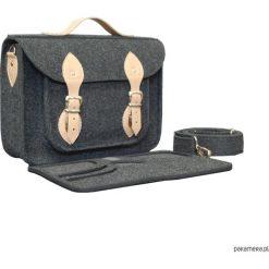 Filcowa torba na laptop personalizowa - grawer. Szare torby na ramię męskie Pakamera, ze skóry. Za 113,00 zł.