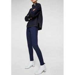 Mango - Jeansy Paty. Niebieskie jeansy damskie rurki marki Mango, z podwyższonym stanem. W wyprzedaży za 59,90 zł.