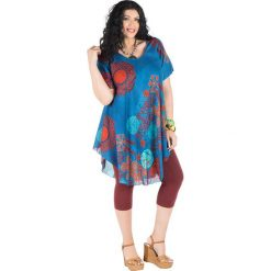 Sukienki balowe: Sukienka w kolorze niebiesko-czerwono-błękitnym