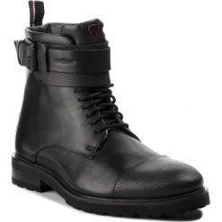 Kozaki STRELLSON - New Brown 4010002482 Black 900. Czarne glany męskie Strellson, z materiału. Za 789,00 zł.
