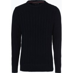 Tommy Hilfiger - Sweter męski, niebieski. Niebieskie swetry klasyczne męskie TOMMY HILFIGER, m. Za 599,95 zł.