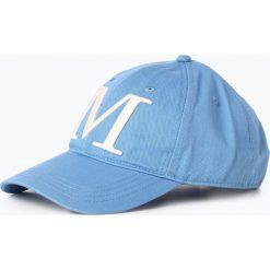 Marc O'Polo - Damska czapka z daszkiem, niebieski. Niebieskie czapki z daszkiem damskie Marc O'Polo, z bawełny. Za 129,95 zł.