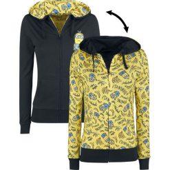 Minions Poopaye Bluza z kapturem rozpinana damska żółty/czarny. Czarne bluzy rozpinane damskie Minions, s, z motywem z bajki, z kapturem. Za 121,90 zł.