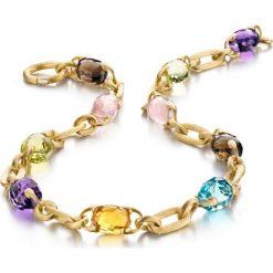 Naszyjniki damskie: Piękny Naszyjnik – złoto żółte 750, Ametyst…