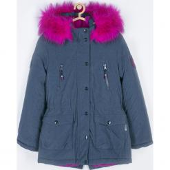 Kurtka. Niebieskie kurtki dziewczęce przeciwdeszczowe Winter Time, z futra, długie. Za 259,90 zł.