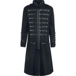 Płaszcze przejściowe męskie: Banned Military Drummer Long Coat Płaszcz czarny