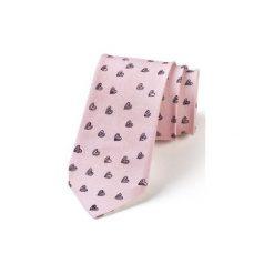 Krawat męski CZARNE SERCA. Różowe krawaty męskie marki Reserved. Za 129,00 zł.