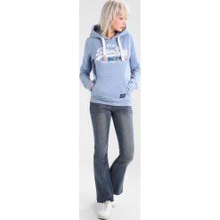 Bluzy damskie: Superdry VINTAGE LOGO FOIL POP ENTRY HOOD Bluza z kapturem cali blue marl