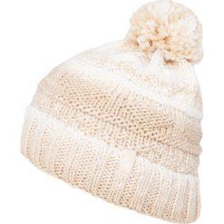 Czapka damska CAD009z - beżowy melanż - 4F. Brązowe czapki zimowe damskie marki 4f, na jesień, melanż, z materiału. Za 39,99 zł.