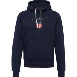 Gant - Męska bluza nierozpinana – Shield, niebieski. Niebieskie bluzy męskie rozpinane GANT, l, z haftami, z bawełny. Za 449,95 zł.