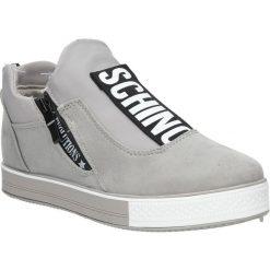 Szare buty sportowe sneakersy na platformie z ozdobnym suwakiem Casu SG-61. Szare sneakersy damskie Casu. Za 69,99 zł.