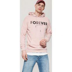 Bejsbolówki męskie: Bluza z napisem - Różowy