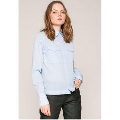 G-Star Raw - Koszula. Szare koszule damskie marki G-Star RAW, l, z bawełny, casualowe, z klasycznym kołnierzykiem, z długim rękawem. W wyprzedaży za 269,90 zł.