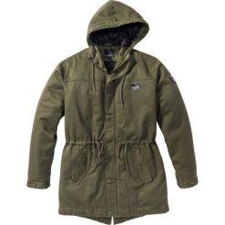 Kurtka parka Regular Fit bonprix ciemnooliwkowy. Zielone kurtki męskie marki QUECHUA, m, z elastanu. Za 99,99 zł.