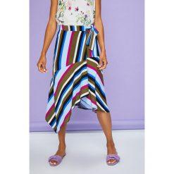Answear - Spódnica Violet Kiss. Szare spódniczki asymetryczne marki Miss Sixty, m, z dzianiny, midi. W wyprzedaży za 79,90 zł.