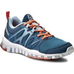Buty Reebok - Realflex Train 4.0 BD5061 Blue/Grey/Pink. Niebieskie buty do fitnessu damskie marki Reebok, z materiału. W wyprzedaży za 199,00 zł.