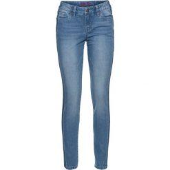 """Dżinsy SKINNY bonprix niebieski """"bleached"""". Niebieskie jeansy damskie marki bonprix, z jeansu. Za 49,99 zł."""
