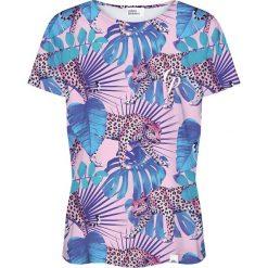 Colour Pleasure Koszulka damska CP-030 274 różowo-niebieska r. XL/XXL. Czerwone bluzki damskie marki Colour pleasure, xl. Za 70,35 zł.