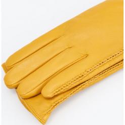 Skórzane rękawiczki - Żółty. Żółte rękawiczki damskie Reserved. Za 99,99 zł.
