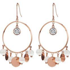 Kolczyki damskie: Pozłacane kolczyki z kryształkami i kocim okiem