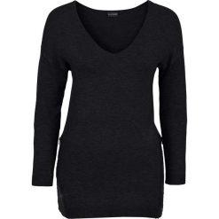 Sweter z aplikacją z cekinów bonprix czarny. Czarne swetry klasyczne damskie bonprix. Za 99,99 zł.
