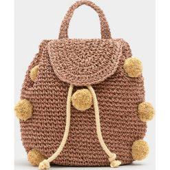 Plecaki damskie: Mały plecak z pomponami