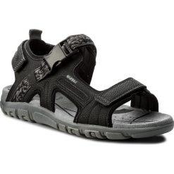 Sandały GEOX - U S.Strada A U8224A 00050 C9997 Black. Czarne sandały męskie skórzane Geox. W wyprzedaży za 239,00 zł.