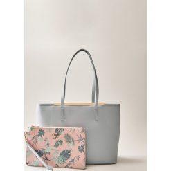 Kosmetyczki damskie: Torba shopper z kosmetyczką - Niebieski