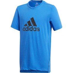 T-shirty chłopięce: Adidas Koszulka chłopięca YB Prime Logo Tee niebieski r. 164 (CF7079)