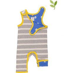 Pajacyki niemowlęce: Dwustronne śpioszki w kolorze szaro-niebieskim