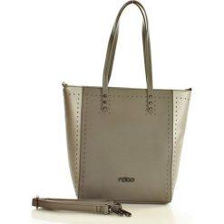 NOBO Miejski shopper bag szary. Brązowe shopper bag damskie marki Nobo, w paski, ze skóry ekologicznej. Za 159,00 zł.