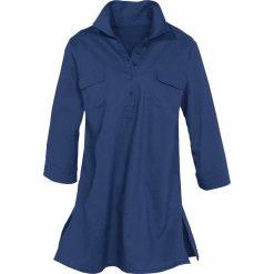 Bluzki damskie: Bluzka tunikowa z domieszką lnu bonprix kobaltowy