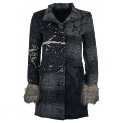 Desigual Płaszcz Damski Charlotte 38 Ciemnoszary. Czarne płaszcze damskie pastelowe Desigual. W wyprzedaży za 649,00 zł.