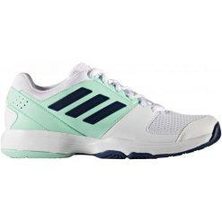 Adidas Buty Barricade Court W Ftwr White/Mystery Blue /Easy Green 40. Białe buty do fitnessu damskie Adidas. W wyprzedaży za 215,00 zł.