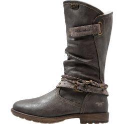 Mustang Śniegowce dunkelgrau. Czarne buty zimowe damskie marki Mustang, z materiału. W wyprzedaży za 164,45 zł.