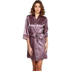 Szlafroki kimona damskie: Szlafrok w kolorze jasnobrązowym
