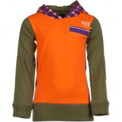"""Bluza """"Throw"""" w kolorze pomarańczowo-niebiesko-oliwkowym. Brązowe bluzy chłopięce marki 4FunkyFlavours Kids. W wyprzedaży za 102,95 zł."""