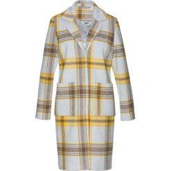 Płaszcz bonprix jasnoszaro-żółto-szary. Szare płaszcze damskie bonprix, eleganckie. Za 199,99 zł.