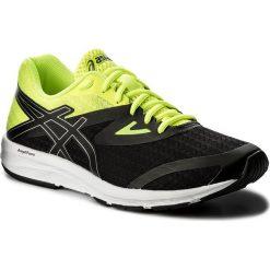 Buty ASICS - Amplica T825N Black/Silver/Safety Yellow 9093. Czarne buty do biegania męskie Asics, z materiału. W wyprzedaży za 199,00 zł.
