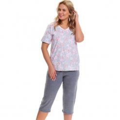 Piżama w kolorze jasnoniebiesko-szarym - t-shirt, spodnie. Niebieskie piżamy damskie Doctor Nap, l. W wyprzedaży za 82,95 zł.