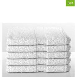 Kąpielówki męskie: Ręczniki prysznicowe (5 szt.) w kolorze białym