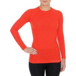 Bluzki sportowe damskie: Brubeck Koszulka damska z długim rękawem Active Wool czerwona r. L (LS12810)