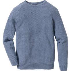Sweter Slim Fit bonprix matowy niebieski. Niebieskie swetry klasyczne męskie marki bonprix, m, z dzianiny. Za 59,99 zł.