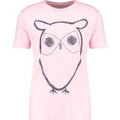 T-shirty męskie z nadrukiem: Knowledge Cotton Apparel OWL Tshirt z nadrukiem orchid pink