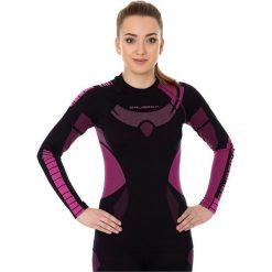 Bluzy damskie: Brubeck Bluza damska DRY z długim rękawem czarno-fioletowa r. M (LS13070)