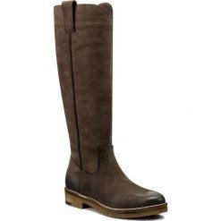 Oficerki EVA MINGE - Delfina 2M 17SM1372221EF 405. Brązowe buty zimowe damskie marki Kazar, ze skóry, przed kolano, na wysokim obcasie. W wyprzedaży za 329,00 zł.