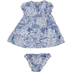 Spodnie niemowlęce: 2-częściowy komplet w kolorze niebiesko-białym